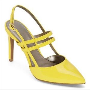 Yellow Pointed Toe Pump